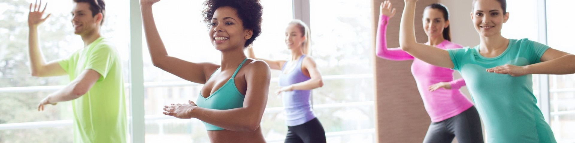 Exercising girls
