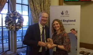 Samantha Logan, Stafford Borough Council Health Support Officer with Local MP Jeremy Lefroy