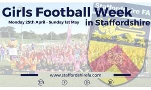 Girls Football Week Poster 300x180