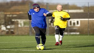 Men playing over 50s football