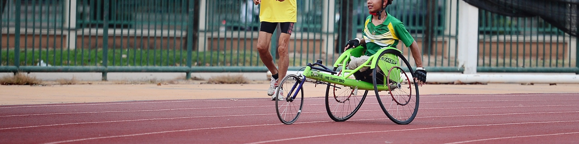 Disability cycling on racetrack