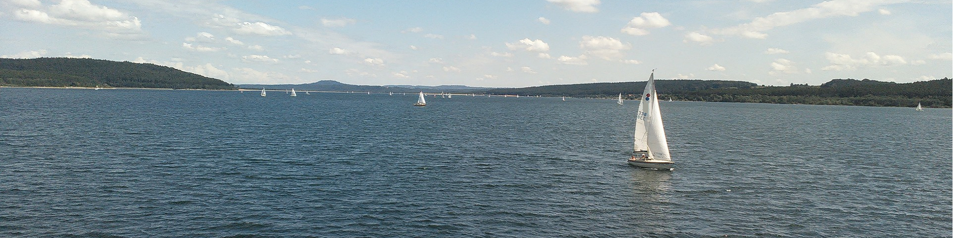 Sailing boat on water