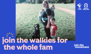 Walking the dog with children