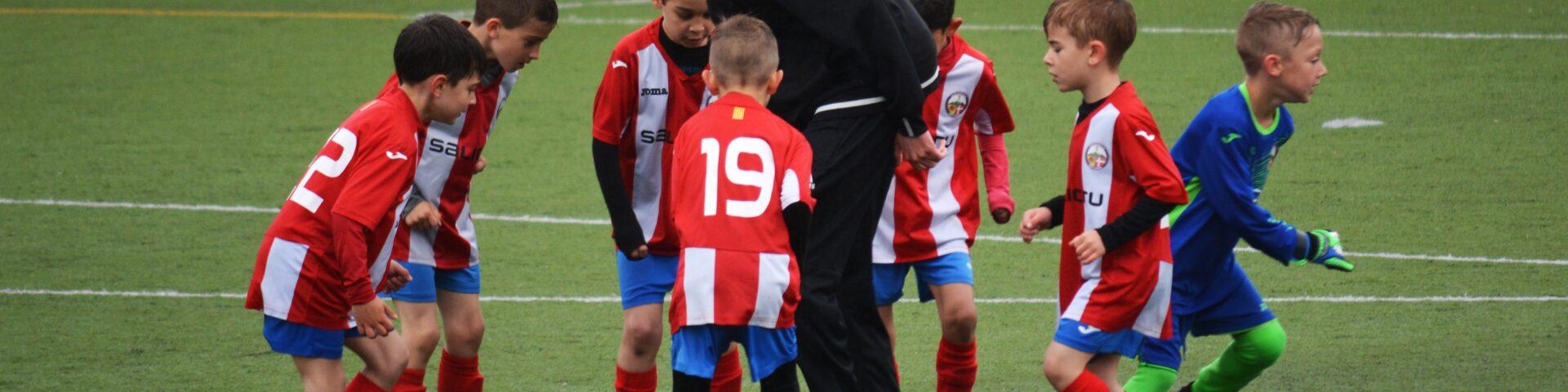 coaching football team