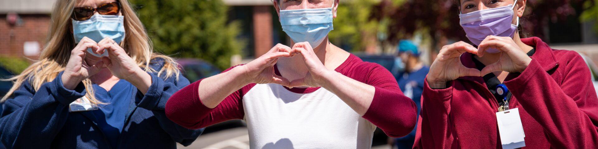 nurses in masks