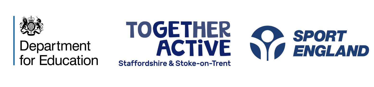 Together Active Opening School Facilities logo lock up